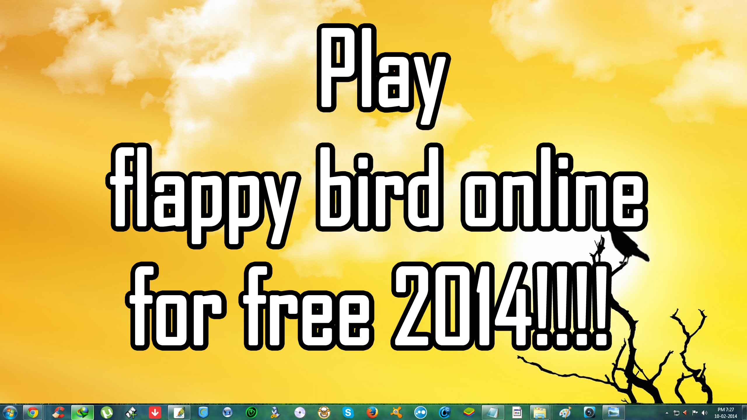 How to play flappy bird online for free 2014
